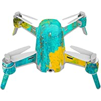 Skin For Yuneec Breeze 4K Drone – Acrylic Blue | MightySkins Protective, Durable, and Unique Vinyl Decal wrap cover | Easy To Apply, Remove, and Change Styles | Made in the USA