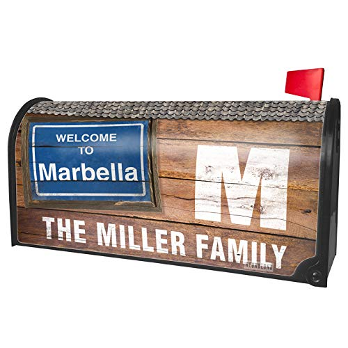 NEONBLOND Custom Mailbox Cover Sign Welcome to Marbella