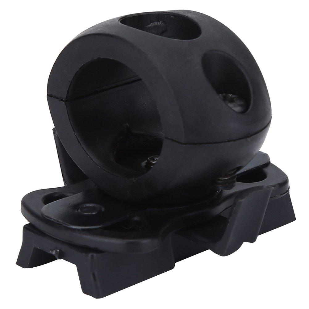 etc Asixx Helmet Flash Holder Hunting Helmet Flashlight Bracket Portable Plastic Torch Mount Flashlight Holder Bracket for Fast Helmet for Airsoft and Combat Games