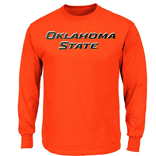 NCAA Oklahoma State University College Long Sleeve Basic Tee, Fiesta Orange, X-Large