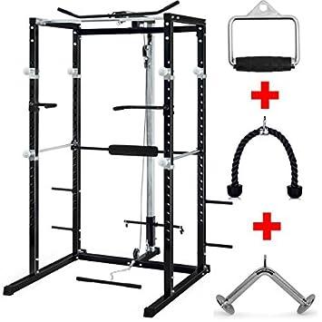 TnP-Accessories Estante para sentadillas olímpicas de gimnasio con tirador de láminas, rizo,