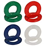 The Friendly Swede Fractional Micro Weight Plates for Strength Training and Muscle Building - Set of 8 Olympic Barbell Plates, 5 lb for Incremental Weight Increases