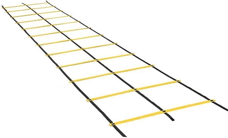 JJSFJH De doble velocidad y agilidad Escalera, entrenamiento de la velocidad de doble hilera escalera de agilidad de múltiples funciones de entrenamiento de fútbol Tab Formación Escalera plegable Esca: Amazon.es: Hogar