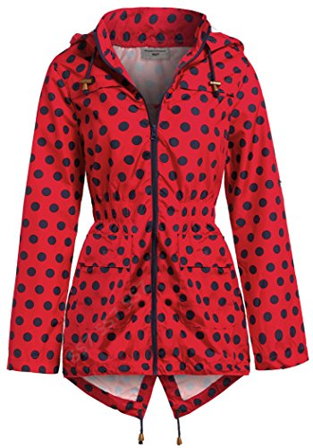 Ss7 Donna Giacca Spot Navy Impermeabile Red BxFWxn