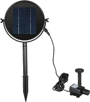 Kit de bomba de fuente de agua con energía solar para estanque de baño para pájaros 9V / 2W