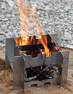 The Howling Raven BurnBox w/ Firerope - Multi-Fuel Stove for Hiking, Camping and Emergency Preparedness.