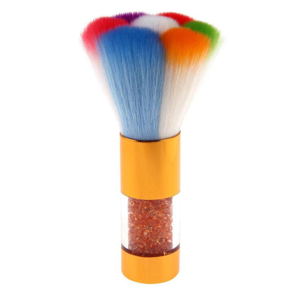 Nail Art Dust Brush Acrylic Nail Art Dust Clean Brush Manicure Pedicure Tool Rhinestones Handle Nail Brushes 03