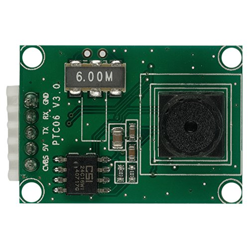 Spinel Miniature Serial JPEG Camera Module TTL/UART with NTSC Video, Arduino Compatible, P/N:SC03MPE, Equal to Adafruit 1386 Camera