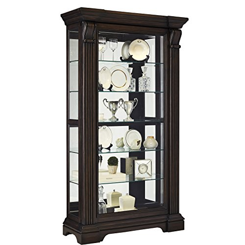 (Pulaski P021583 Caldwell Traditional Sliding Front Door Curio Display Cabinet, 47