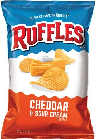 Ruffles Cheddar and Sour Cream Potato Chips, 8.5oz (Pack of 3)