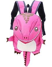 iLifeSmart Mochila para Niños de Dinosaurio de Dibujos Animados Bolsa cómoda de Escuela con Gran Capacidad Material Impermeable Malla trasera Diseño Transpirable Varios Colores (Rosa)