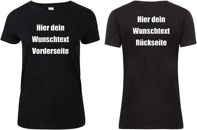 Damen T-shirt selbst Gestalten mit Wunschtext in 30 Schriftarten Bedrucken Druck
