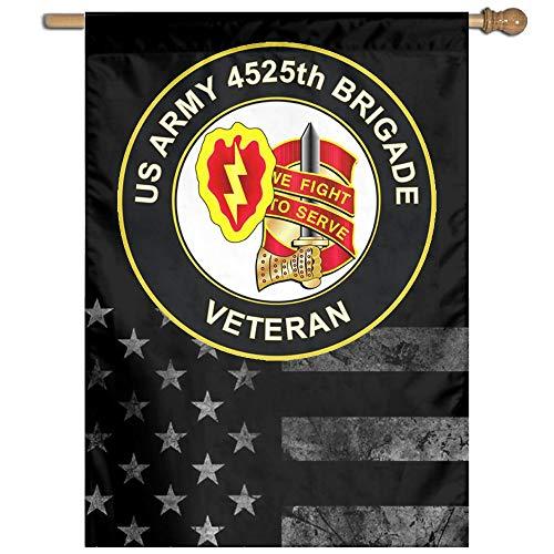 Army 4525th Brigade Unit Crest Veteran Welcome Garden Flag Y