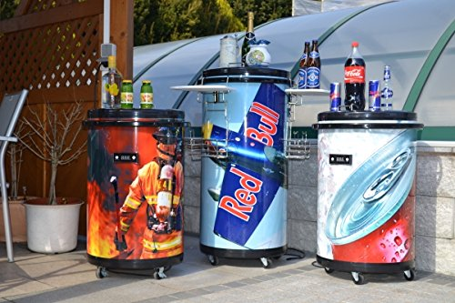 Mini Kühlschrank Red Bull Design : Partycooler mobiler party kühlschrank auf rollen im red bull