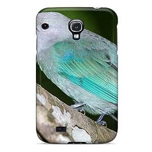 Cute Tpu DaMMeke Beautful Aqua Colored Bird Case Cover For Galaxy S4