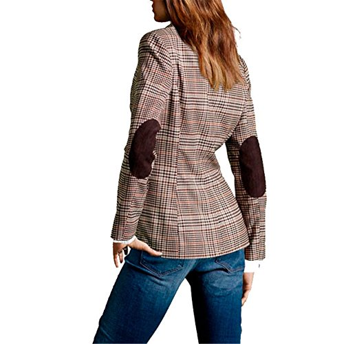 My Wonderful World Blazer Coat Jacket Mww Women Long Sleeves OL Business Plaid Formal Blazer US 6 by My Wonderful World Blazer Coat Jacket (Image #1)
