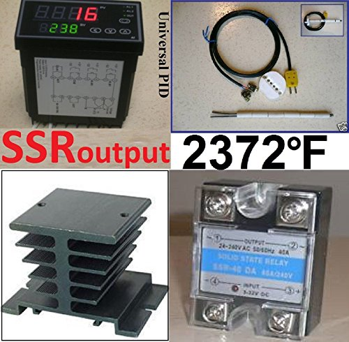 Ramp Soak Temperature Controller Kiln SSR Thermocouple for sale  Delivered anywhere in USA