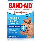 BAND-AID Water Block Finger-Care Bandages, Assorted Sizes 20 Each (Pack of 5)