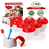 #10: Egg Cooker ,Hard Boiled Eggs without the Shell,6PACK,Silicone Egg Boil,Soft Maker Egg Cooker, BPA Free, Non-Stick Silicone, As Seen On TV -by ZFITEI