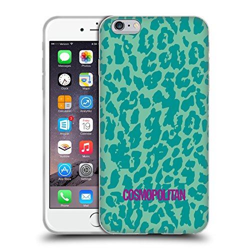 Official Cosmopolitan Teal Cheetah Animal Skin Patterns Soft Gel Case for Apple iPhone 6 Plus / 6s Plus