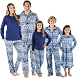 SleepytimePjs Holiday Family Matching Navy Nordic PJs Sets for The Family Women's Lounge Set (STM-3047-W-1385-2X)