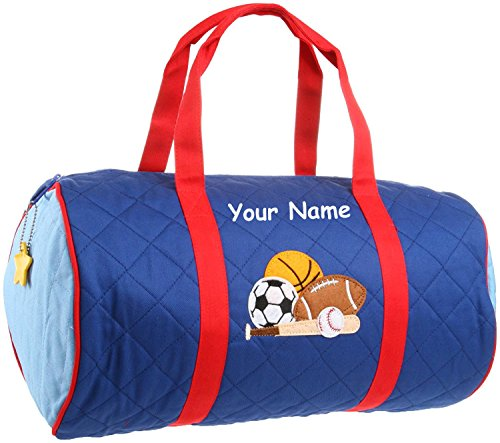 Personalized Stephen Joseph Quilted Sports Duffel Gym (Personalized Gym Bags)
