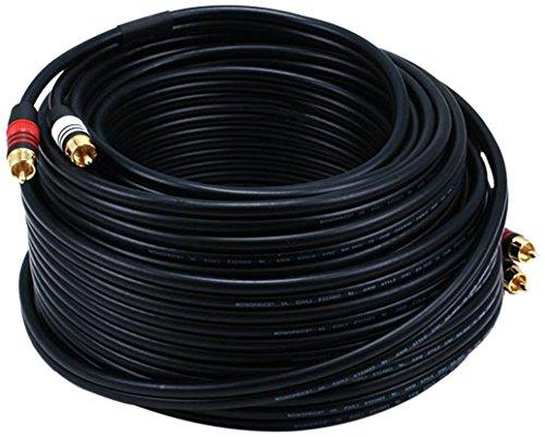 Monoprice 105349 75-Feet 22AWG Premium 2 RCA Plug - Rca Audio Cable 75ft