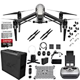 DJI Inspire 2.0 Quadcopter Drone with 2-axis FPV Camera + 32GB MicroSDHC PRO UHS-3 microSD - 2 Pack with Full DJI Accessory Pack + Bonus Ritz Gear Memory Card Reader