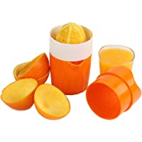 Manual Hand Orange Juicer Squeezer with Strainer and Container, 2 Cups