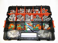 DEUTSCH DT CONNECTOR KIT GRAY OEM 518 Piece Kit SOLID TERMINALS + REMOVAL TOOLS, MALE & FEMALE