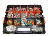 Deutsch DT Connector KIT Gray 518 Piece Kit Solid TERMINALS + Removal Tools, Male & Female