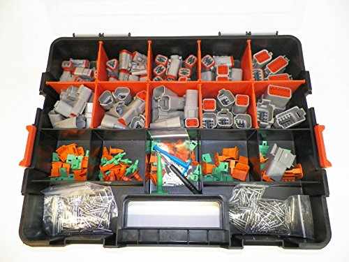 Connector Removal - Deutsch DT Connector KIT Gray 518 Piece Kit Solid TERMINALS + Removal Tools, Male & Female