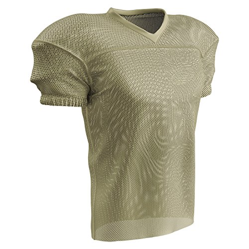 CHAMPRO Fire Football Jersey; Youth Vegas Gold,