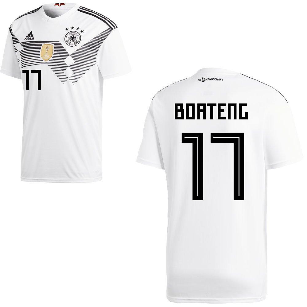 Fan sport24 DFB Alemania Camiseta de Fútbol Camiseta Home WM 2018 Hombre Niños con Jugador Nombre, Boateng, 128: Amazon.es: Deportes y aire libre