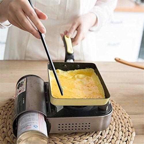 SHEbaking Japanese Tamagoyaki Omelette Hard Anodized Non-Stick Coating Stainless- Steel Egg Pan (Blue)