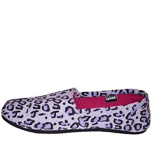 Dawgs Kaymann Womens Exotic Loafer Purple Leopard Print 5 M Us
