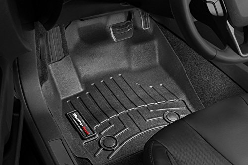 (WeatherTech 444831 Front Floor Liner for 2013+ Ford Fusion, Black automatic transmission only.)