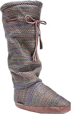 Amazon.com | Muk Luks Women's Tall Fleece-Lined Slipper