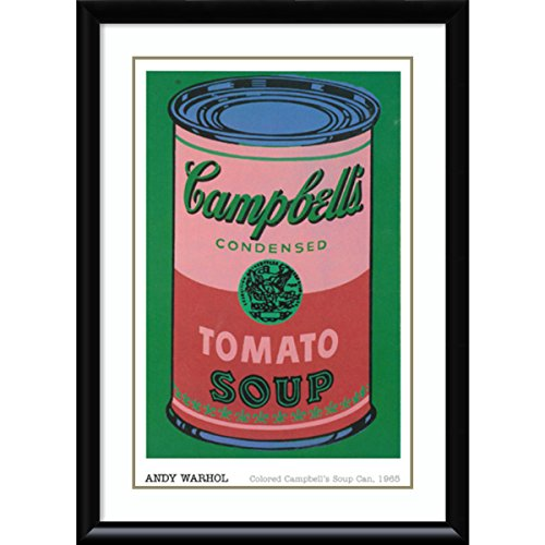 Framed Art Print 'Colored Campbell's Soup Can, 1965' by Andy Warhol: Size 31x43
