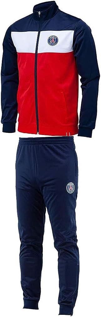 PSG - Official Paris Saint-Germain Soccer Tracksuit - Blue, Red
