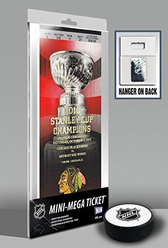 NHL Chicago Blackhawks 2010 Stanley Cup Championship Banner Raising Mini-Mega Ticket