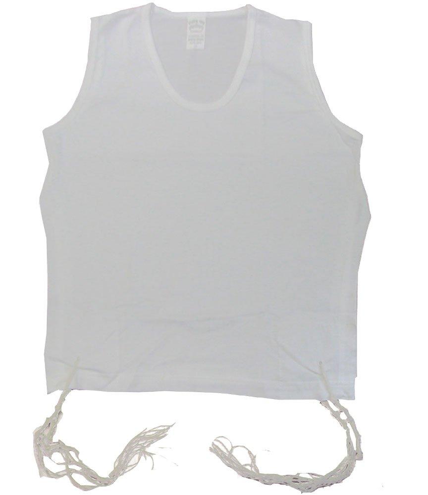 PerfTzit Children's Size 5 (Ages 7-8) 100% Cotton Undershirt Tzitzis Tallit Kattan Malchut