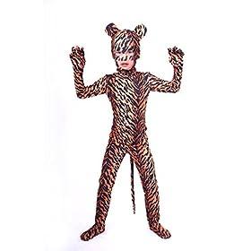 - 51Zhi DU 2BaL - Nedal Kids Leopard Bodysuit Animal Halloween Onesie Cosplay Costume Lycra Suit