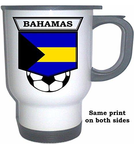Bahamas Soccer White Stainless Steel Mug