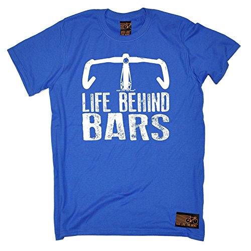 Different Day T-shirt - RLTW Premium - Men's Life Behind Bars ... Bicycle Racer (L - ROYAL) T-SHIRT