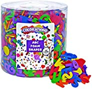 Colorations ABC Alphabet EVA Foam Shapes, 1/2 Pound Bucket, for Kids, Arts & Crafts, Language, Learning, T