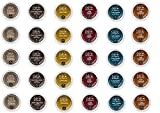 k cup coffee chai latte - 30 Count - Cafe Escape Variety K Cup For Keurig K-Cup Brewers - Cafe Caramel, Cafe Vanilla, Cafe Mocha, Chai Latte, Milk Chocolate Hot Cocoa, Dark Chocolate Hot Cocoa