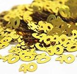 Digital baby 40TH Birthday Anniversary Party Gold SCRAPPI DOOS Table Confetti 50g(Multi-Color,one Size)