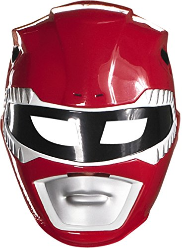 Red Power Ranger Vacuform Mask by Disguise ()