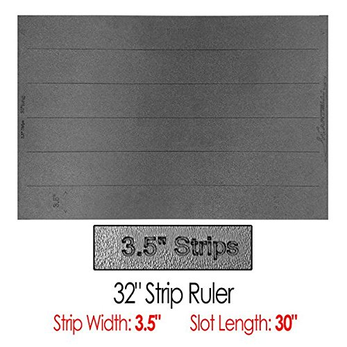 Martelli 32'' Strip Ruler with 3.5'' Wide Strips by Martelli